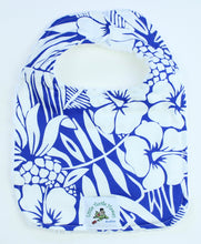 Load image into Gallery viewer, Hawaiian Baby Bib: Pineapple Patch Blue
