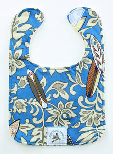Hawaiian Baby Bib: Surfer Boy Blue