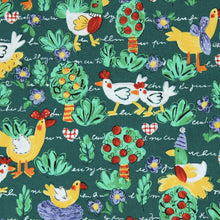 Load image into Gallery viewer, Fabric by the Yard, Children's Print Chicken Scratch Green