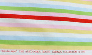 Fabric by the Yard, Primary Stripes, Bright Stripes: Play Day Stripe