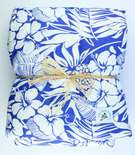Load image into Gallery viewer, Hawaiian Print Baby Comforter: Pineapple Patch Blue