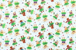 Made to Order, Coordinating Hawaiian Print Baby Gifts: Hula Babies White
