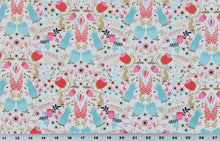 Load image into Gallery viewer, Fabric by the Yard, Children's Print: Garden Bunny Cream