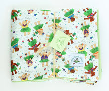 Load image into Gallery viewer, Hawaiian Baby Blanket: Hula Babies White
