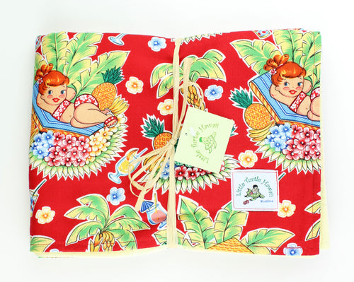 Hawaiian Baby Blanket: Luau Lulu Red