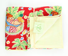 Load image into Gallery viewer, Hawaiian Baby Blanket: Luau Lulu Red