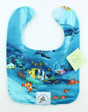 Load image into Gallery viewer, Hawaiian Baby Bib: Under the Sea Turquoise