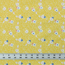 Load image into Gallery viewer, Fabric By the Yard, Children's Print: Yellow Toy Box Floral