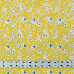 Fabric By the Yard, Children's Print: Yellow Toy Box Floral