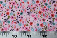 Load image into Gallery viewer, Fabric by the Yard, Children's Print: Garden Girl Floral Pink