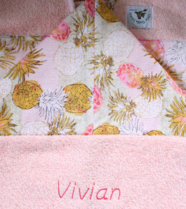 Personalized, Made to Order, Coordinating Hawaiian Baby Gifts: Pineapple Pink