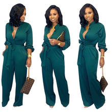 Load image into Gallery viewer, Elegant European Style Long-sleeved  jumpsuit