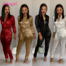 Load image into Gallery viewer, Elegant Zipper Long Sleeve Party Romper