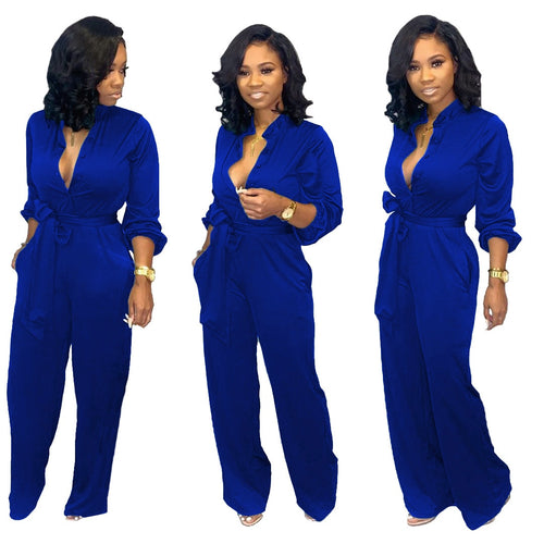 Urban Casual Classic European Style Jumpsuit