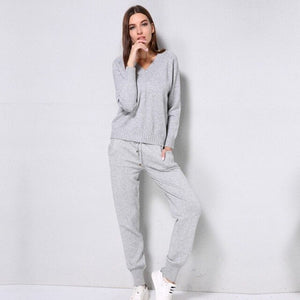 Knitted Sweater Track Suit Set