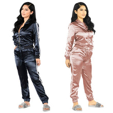 Load image into Gallery viewer, Two Piece Silky Tracksuit