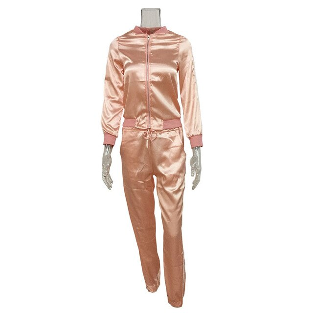 Two Piece Silky Tracksuit