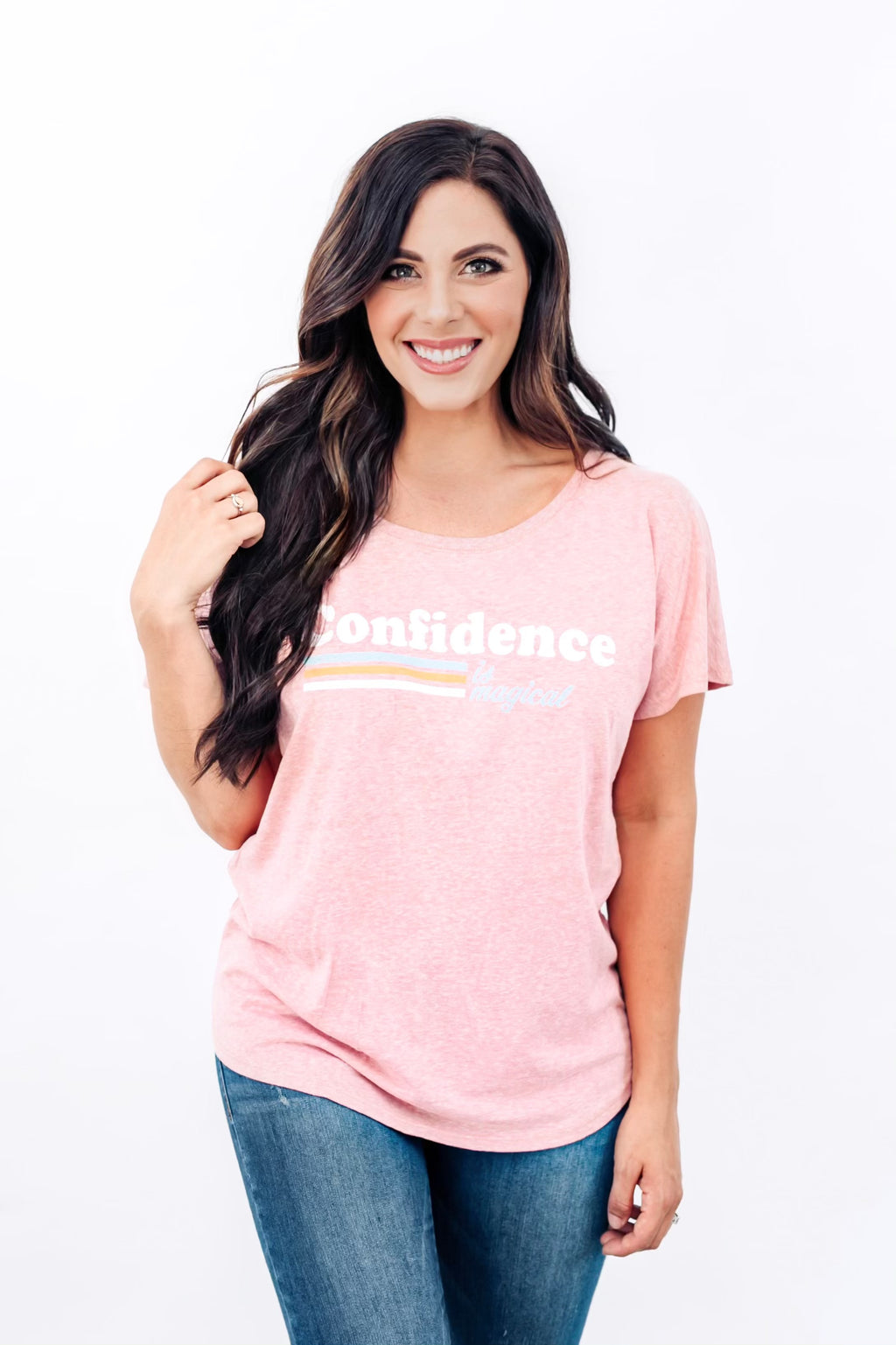 PRESALE - Confidence is Magical - Women's Dolman - Desert Pink
