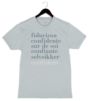 PRESALE - Confident Languages - Unisex Crew - Ice Blue
