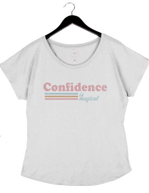 PRESALE - Confidence is Magical - Women's Dolman - White