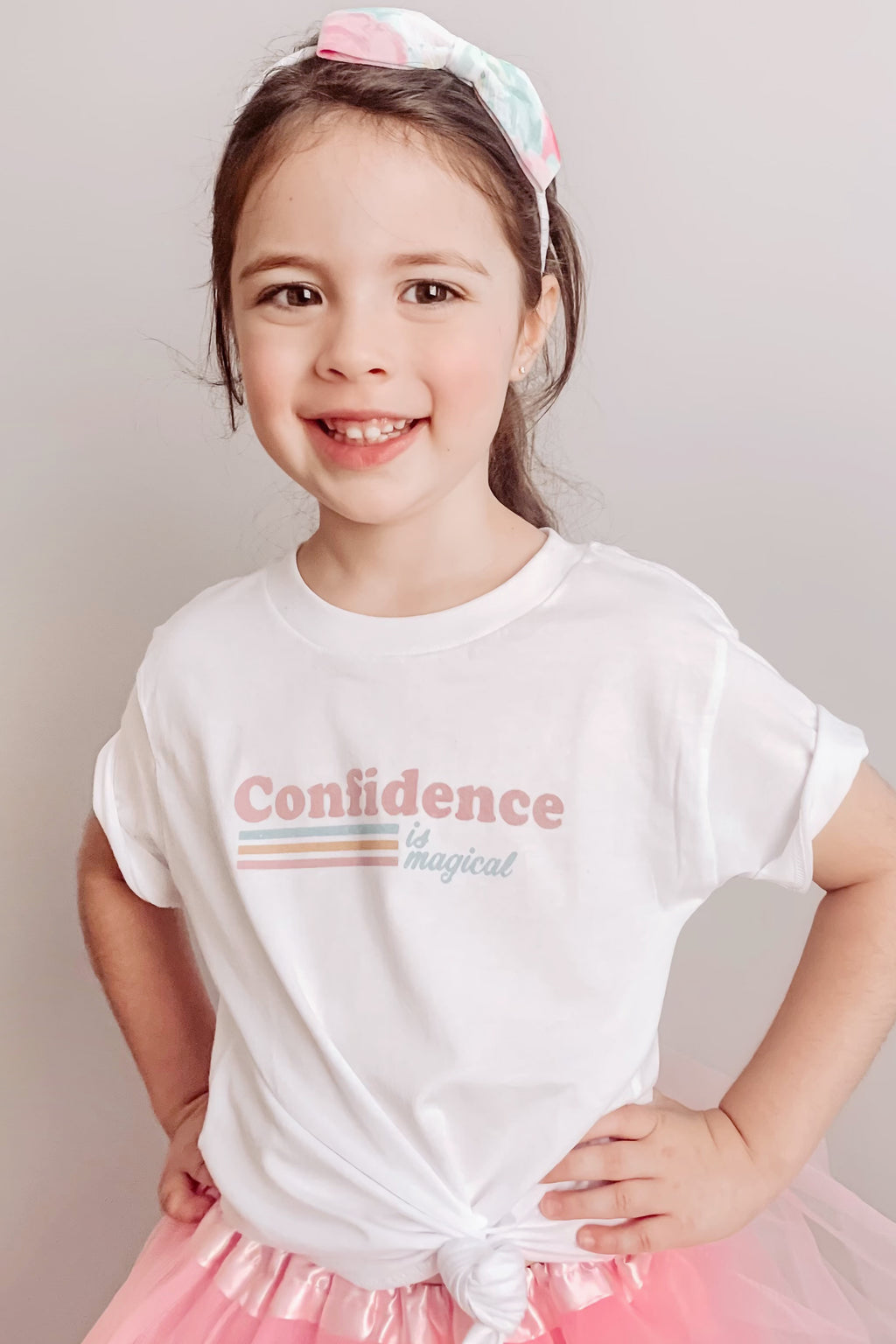 PRESALE - Confidence is Magical - Kids Crew - White
