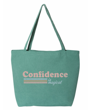 PRESALE - Confidence is Magical - Tote - Sea Glass Green