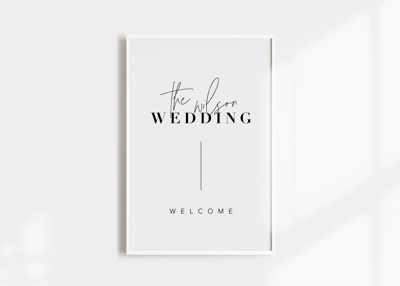 Modern Wedding Welcome Sign by Amy Tarah Designs