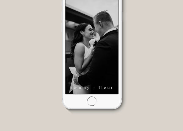Minimalist Wedding Custom Snapchat Filter by Amy Tarah Designs
