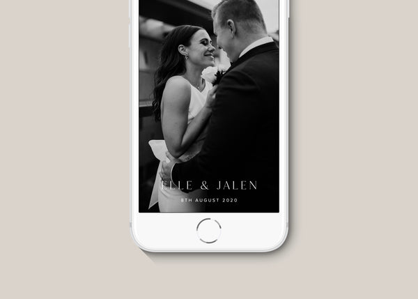 Modern Classic Wedding Snapchat Filter by Amy Tarah Designs