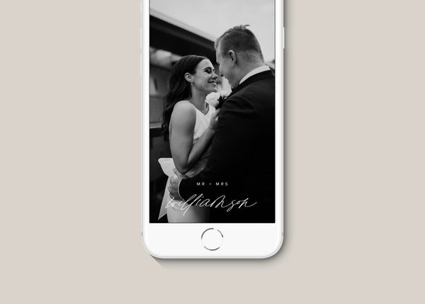 Modern Wedding Custom Snapchat Filter
