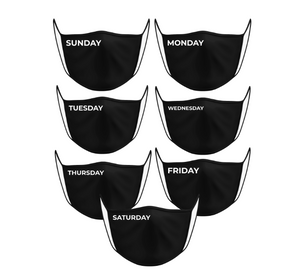 7-Day of Week Face Mask Set