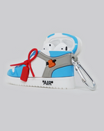 Load image into Gallery viewer, OW AJ 1 UNC AirPods Case *PRE-ORDER CASE WILL SHIP IN 2-3 WEEKS*