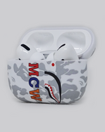 Load image into Gallery viewer, MCW x Shark Inspired AirPods Pro Case (White Camo)