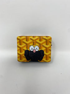 Yellow Kaws Elmo Goyard AirPods Pro Case