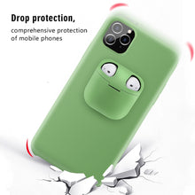 Load image into Gallery viewer, Luxury Liquid Phone Case With For Airpods Case For iPhone 11 Pro Max Xs Max XR Silicone Phone AirPod Holder Case Air Pods Cover