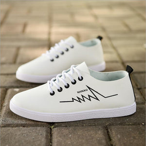 2018 spring new white shoes casual shoes flat shoes students shoes