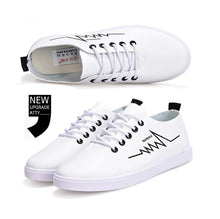 Load image into Gallery viewer, 2018 spring new white shoes casual shoes flat shoes students shoes