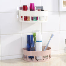 Load image into Gallery viewer, Semi-Circle Shape Wall Mounted Storage Rack Holder Hanging Shelf Bathroom Tool