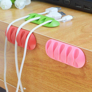 2Pcs Wire Cord Cable Clips Management Desktop Cable Organizer Fixer Line Holder