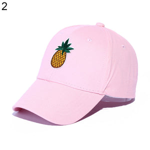 Cactus Pineapple Embroidery Dad Hat Unconstructed Fashion Unisex Baseball Cap