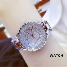 Load image into Gallery viewer, Women Watches 2019 Luxury Brand Diamond Quartz Ladies Rose Gold Watch Stainless Steel Clock Dress Watch women relogio feminino