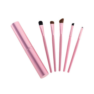 5pcs Travel Portable Mini Eye Makeup Brushes Set Smudge Eyeshadow Eyeliner Eyebrow Brush Lip Make Up Brush