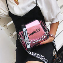Load image into Gallery viewer, Summer Women Letter Shoulder Bags Female Handbag PU Messenger Bags For Ladies Exquisite Crossbody Bucket Bag