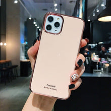 Load image into Gallery viewer, Luxury Green i Phone Case on For iPhone 6 6S Plus 7 8 Plus Coque plating Soft Cover Case For iPhone X XR XS Max 11 Pro MAX Funda