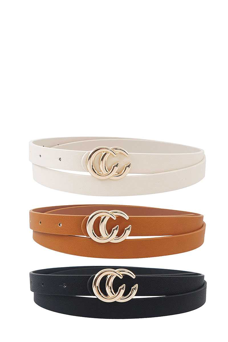3 Pcs. Trendy Skinny Belt Set
