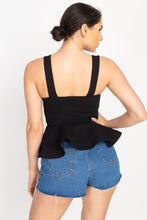 Load image into Gallery viewer, Sweetheart Bustier Peplum Top
