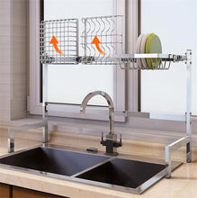 Load image into Gallery viewer, Stainless Steel Sink Drain Rack Kitchen Shelf DIY Bowl Dish Cutlery