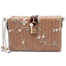 Load image into Gallery viewer, Summer Beach Handbags Women Messenger Bags Square Straw Hand Woven Ladies Crossbody Bag Shoulder Bags