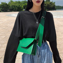 Load image into Gallery viewer, Women Pu Leather Shoulder Bags Girls Brief Flap Women's Casual Messenger Bags Crossbody Bags