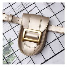 Load image into Gallery viewer, Fanny Pack Women Snak skin Belt Bag PU Leather Vintage Serpentine Waist Bag Metale Letter Messenger Chest Pack Coin Purse